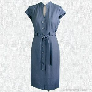 NWT Sandra Darren shirt dress gray 10